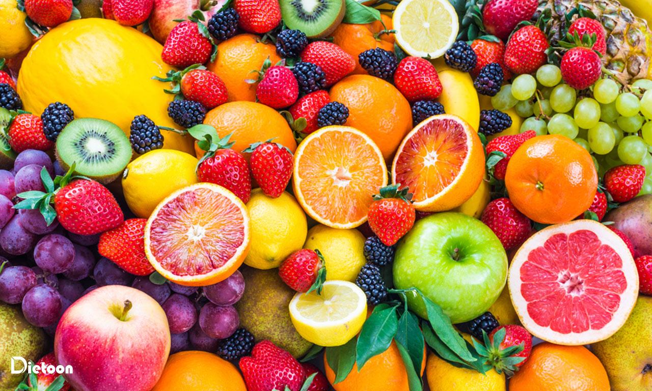 میو ه های رنگارنگ