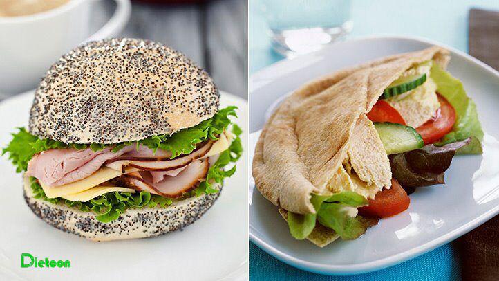 در رژیم مدیترانه ای به سبک استایل شرقی نان روستایی را جایگزین رول های نان سفید کنید
