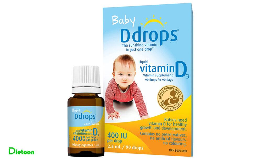 ویتامین D مورد نیاز نوزاد