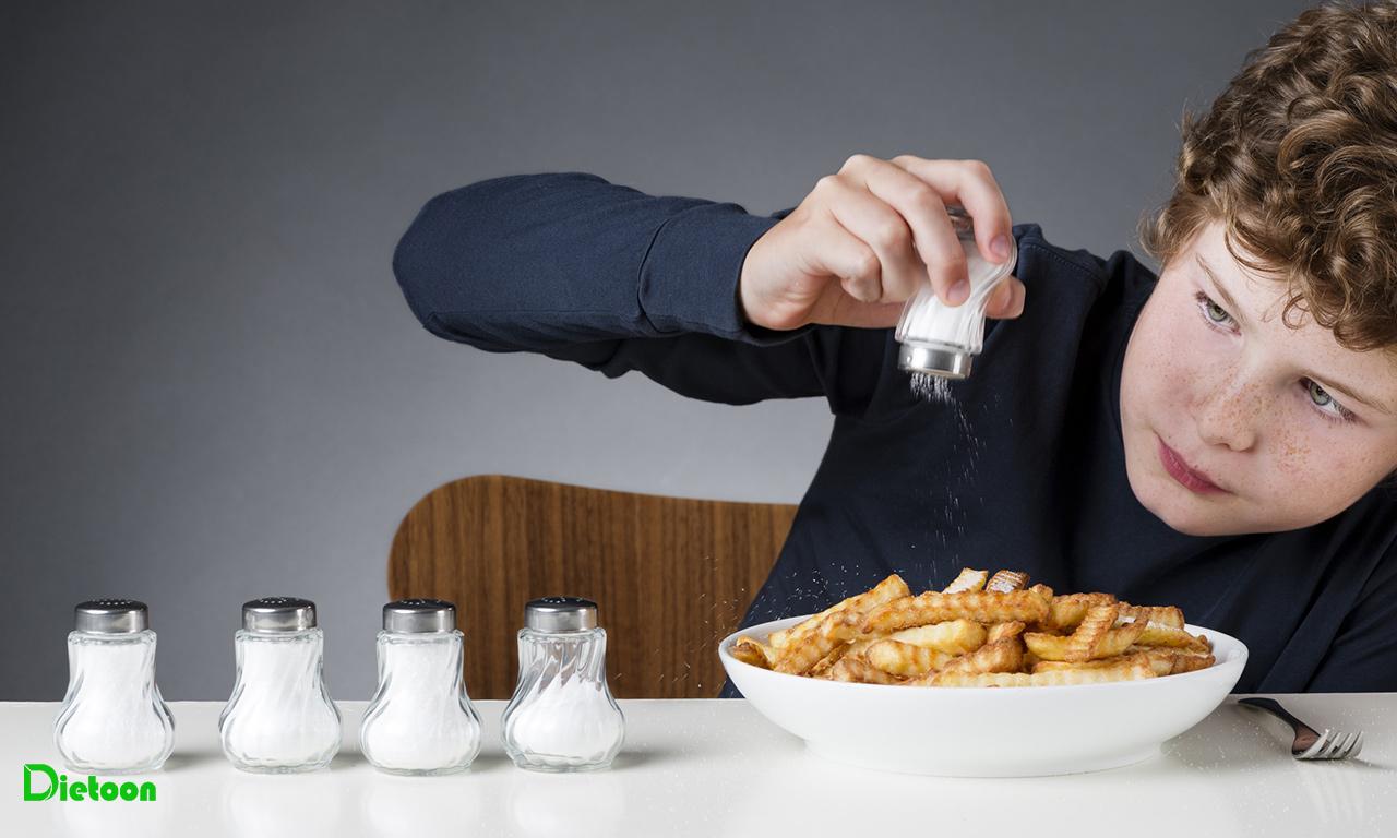 محدود کردن نمک