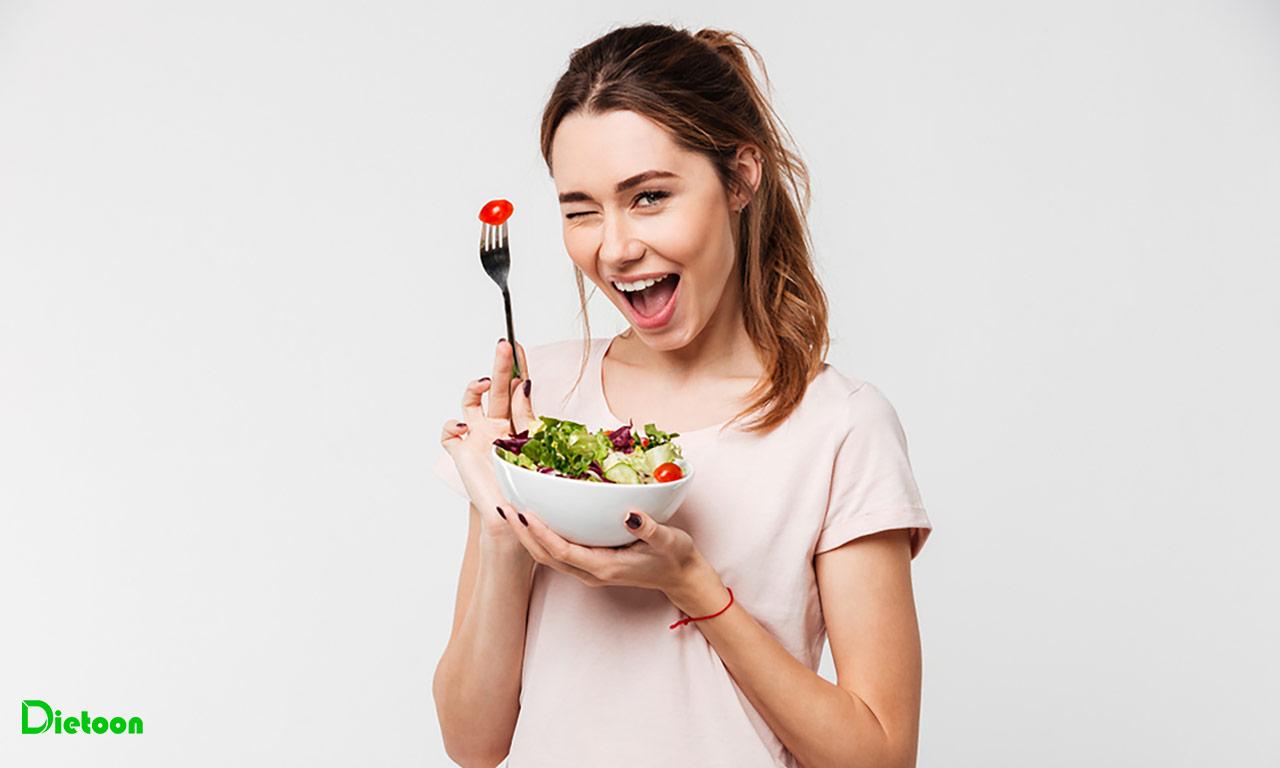 مطمئن شدن از میزان سهم غذا