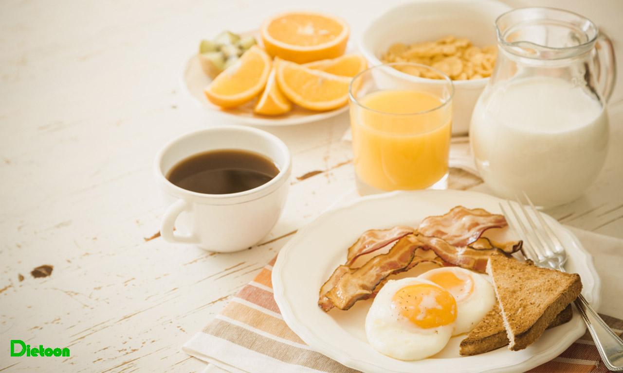 فاصله زیاد بین صبحانه و ناهار