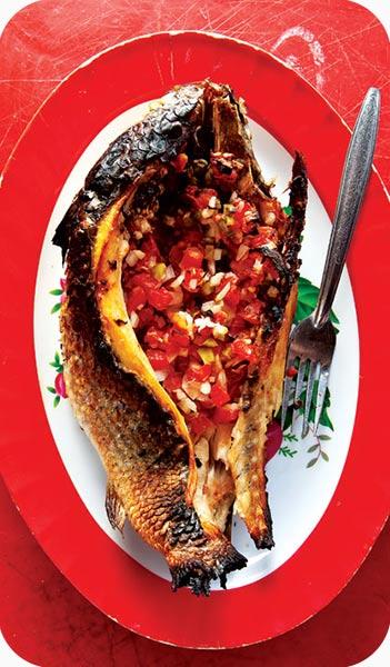 ماهی و ذرت