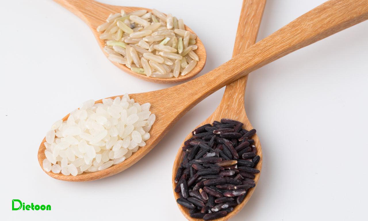 برنج قهوه ای در مقابل برنج سفید