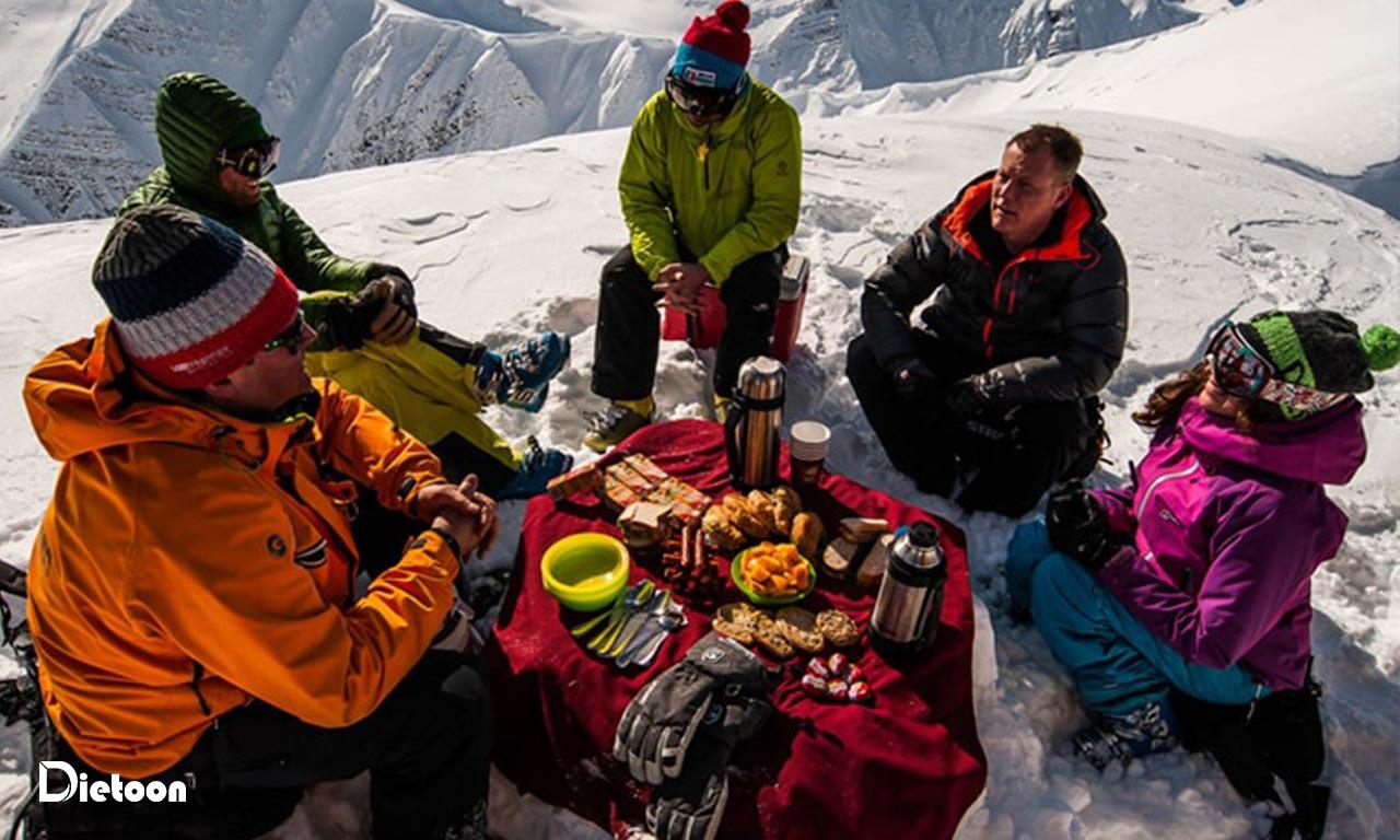 تغذیه مناسب برای اجرای کوهنوردی
