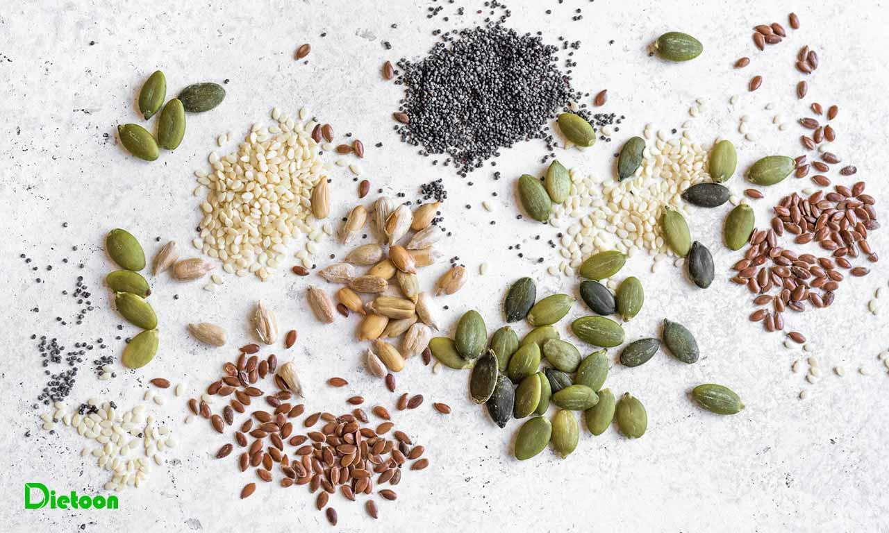 چگونگی مصرف دانه ها